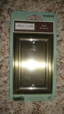 Allen + Roth Antique Brass Finish Blank Junction Box Plate Cover #0145049 Metal