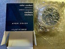 Avon Color Confetti Eyeshadow Hues of Blue Pressed Powder Shimmer