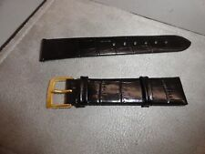 Genuine Tissot Swiss Made Watch Band Genuine Leather Black & Gold Buckle 18mm