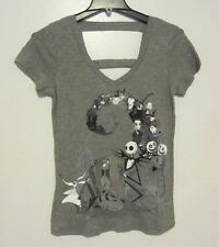 NWT Nightmare Before Christmas Characters Spiral Gray T-shirt Jr. Size S Small