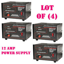 Lot of (4) Pyramid PS14KX 12-Amp Regulated Power Supply 115V/AC 60Hz/270W
