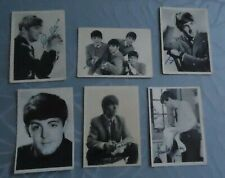 Images THE BEATLES cards 6X 1964 RARE prenten plaatjes