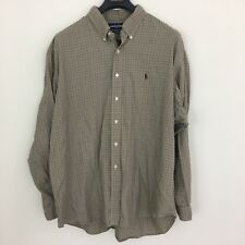 Ralph Lauren Golf Tilden Long Sleeve Button Front Shirt Houndstooth Mens XXL