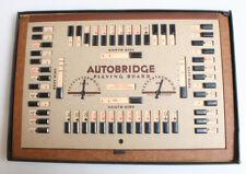 VINTAGE 1950S AUTO BRIDGE , PLAY YOURSELF BRIDGE GAME MASONITE MODEL