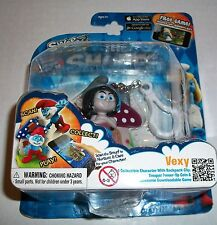 The Smurfs Swaps VEXY Figure Clip-For iOS & Android Smurf World Game App! NEW