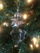 """New Kurt Adler 4.5"""" Faux Crystal Angel With Metal Scarf Christmas Ornament!"""