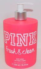 VICTORIA'S SECRET PINK FRESH & CLEAN BODY LOTION HAND CREAM PUMP LARGE NEW