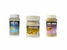 Reptile Livefood Care Pack  Bug Grub Bug Gel Calcium Dust Live Food Care Locust