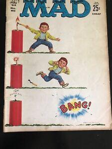 MAD MAGAZINE 80 SILVER AGE EC B&W SATIRE COMIC BOOK Charlie Shulz's Peanuts 1960