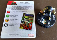 The Zombie (#102) LE Amazing Spider-Man set Heroclix with card