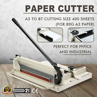 """New Heavy Duty Guillotine Paper Cutter 17""""  Commercial Metal-Base A3 Trimmer"""