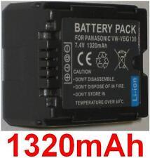 Akku 1320mAh typ VW-VBG130 VW-VBG130E1K Für Panasonic HDC-SD700
