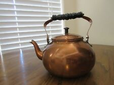 Vintage Douro B & M Copper Tea Kettle Tea Pot Black Roll Handle