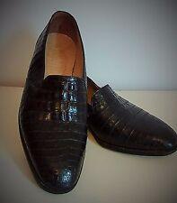 Vintage MAURI Men's ALLIGATOR SKIN, size 9 Black, slip- on dress shoe.