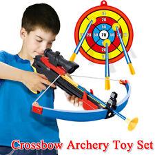 Kids Shooting Real Crossbow Archery Bow & Arrow Plastic Gun Christmas Gift
