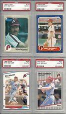 1983, 1986 ,1984 & 1989  Mike Schmidt PSA 9 Mint (4) Four Card Lot