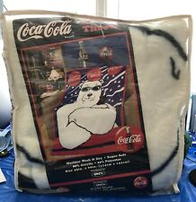 Coca Cola Polar Bear Throw Blanket-unopened