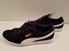 New Puma Women Tennis Shoes Soft foam Comfort Insert Black Suede Size 6.5