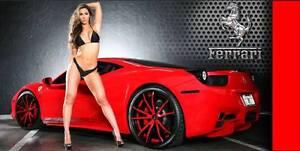 Ferrari Garage Shop Vinyl Banner Sign Wall Art 2' x 4'