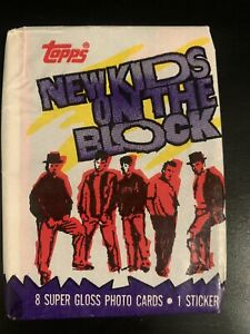 New Kids on the Block ~ 1990 Topps Trading Cards *Still Sealed* Music Walberg