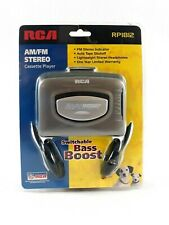 RCA AM/FM Stereo Cassette Player RP1812 With Switchable Bass Boost Auto Shutoff