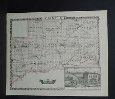 Illinois County Map 1876 Counties of Clinton or Marion, Reversible Q1#60
