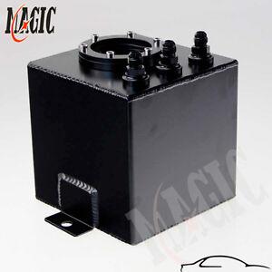 2L Litre Billet High Flow Swirl Fuel Surge Tank AN6 + 044 External Fuel Pump BK