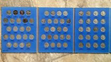 Complete 1913 - 1938 P, D & S BUFFALO NICKELS 64 coins in Whitman Book FREE S/H