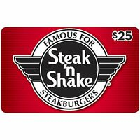 $25 Steak N Shake Gift Card No Expiration Physical Plastic Card Buy More & Save!