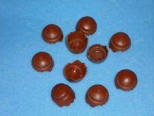 Playmobil Figuren Ersatzteil 10 Haare gezackt braun  (4315)