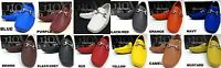Men's GIOVANNI faux leather slip on shoes black white red brown navy style 9511