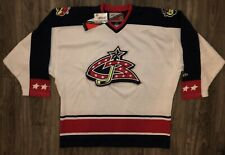 NEW NWT Columbus Blue Jackets CBJ Pro Player XL Hockey Jersey Sewn Logo White
