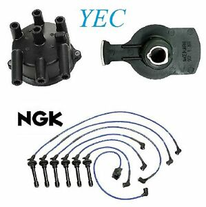 Tune Up Kit Distributor Cap Rotor & Wires FIT Sterling 827 1989-1991