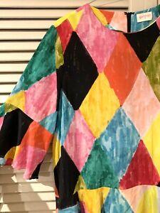 "Versatile GORMAN ""Harlequin"" Silk Dress -  size 10"