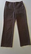 ANN TAYLOR LOFT Petites Stretch Cotton Striped Dress Office Pants - Size 10P