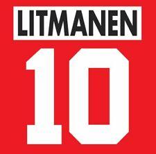 Litmanen #10 Ajax 1995-1996 Home Football Nameset for shirt