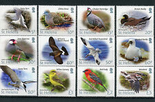St Helena 2015 MNH Bird Definitives 12v Set Birds Tropicbird Booby Terns Stamps