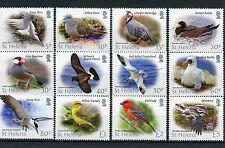 St Helena 2015 MNH Bird Definitives 12v Set Birds Tropicbird Booby Terns Stamps