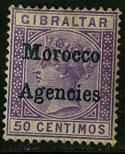 Morocco Agencies 1898   Scott #6    Mint Lightly Hinged - Toned Perfs