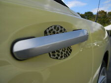 LEOPARD SKIN AUTO ACCESSORY CAR DOOR HANDLE SCRATCH GUARD COVER FIT ALL NEW 4PK