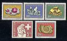 Switzerland 1958 Welfare/Minerals/Fossil 5v set n27377