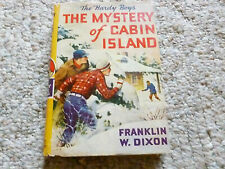 THE HARDY BOYS Mystery of Cabin Island hardcover dj 1929 Franklin W. Dixon