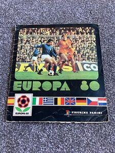 panini euro 80 sticker album nearly complete 1980