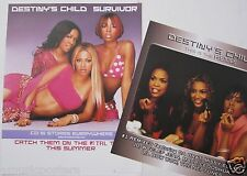 "Destiny'S Child ""Survivor & Remix"" U.S. Promo Posters - Beyonce, Kelly, Michelle"
