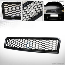 MATTE BLK R-STYLE HONEYCOMB MESH FRONT HOOD BUMPER GRILL GRILLE 02-05 AUDI A4 B6