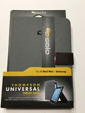 Solo Thompson Universal Tablet Case For iPad Mini/Asus/Google/Samsung Grey Brown