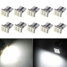 10 PCS Super White T10 Wedge 9-SMD Interior LED Light bulbs W5W 194 168 2825 158