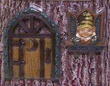 Tree Trunk Fairy & Gnome Door & Window Set Home Sweet Home garden fantasy decor