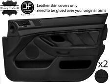 Black Stitch 2X Front Full porte carte en cuir couvre Fits BMW 5 Series E39 95-03