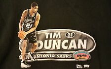 Vintage Tim Duncan PRE-OWNED Size 2XL Black T-Shirt
